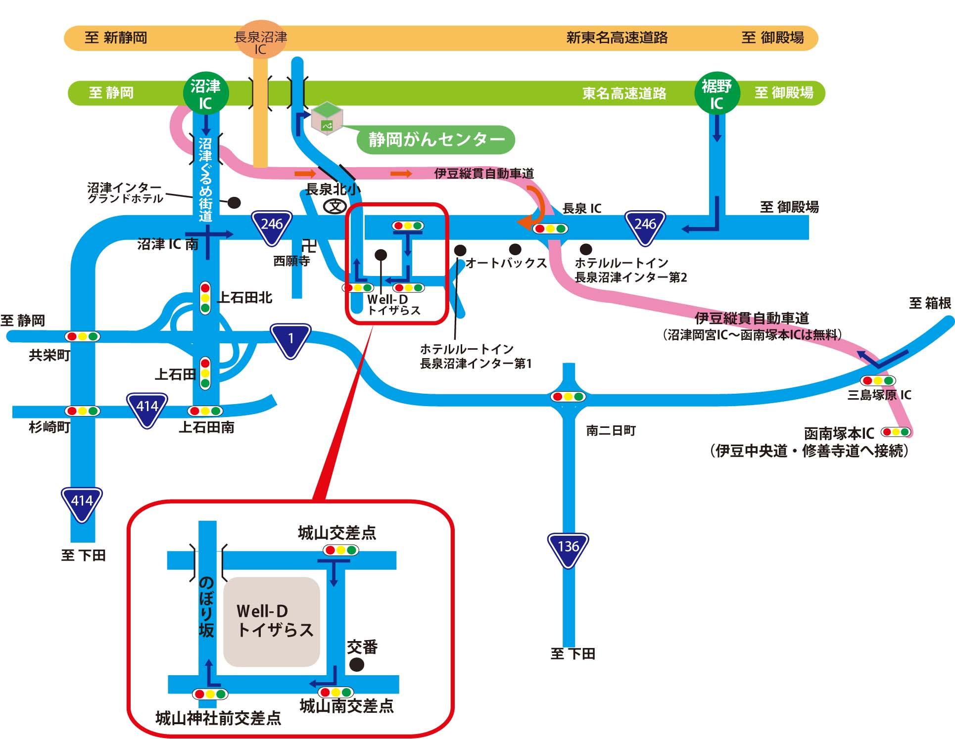 交通案内・アクセス | 静岡がんセンター