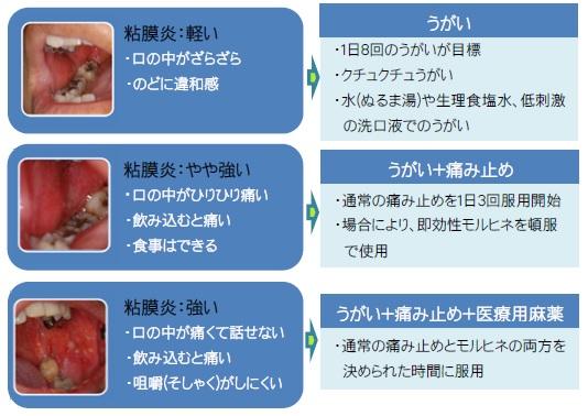 粘膜炎の痛みとコントロール(図)
